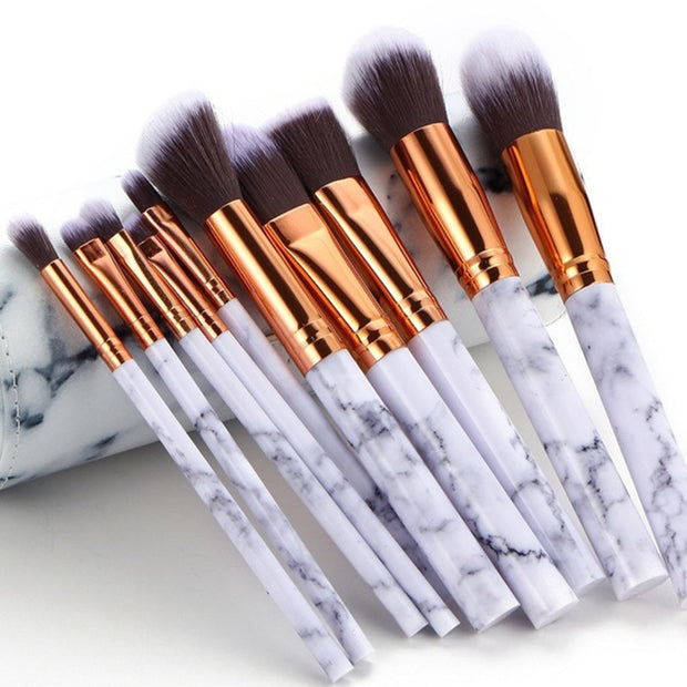 5 Piece Marbled Makeup Set