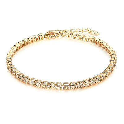 18k Plated Golden Tennis Bracelet