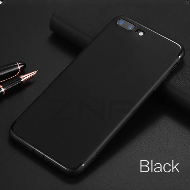 Luxury Matte Black Silicone iPhone Case