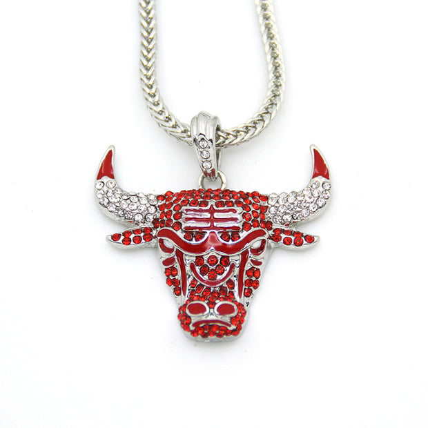 Iced Out Bulls Chain