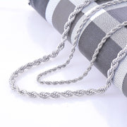 18K Silver Rope Chain