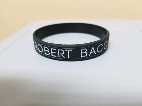 Robert Bacon Rubber Bracelet