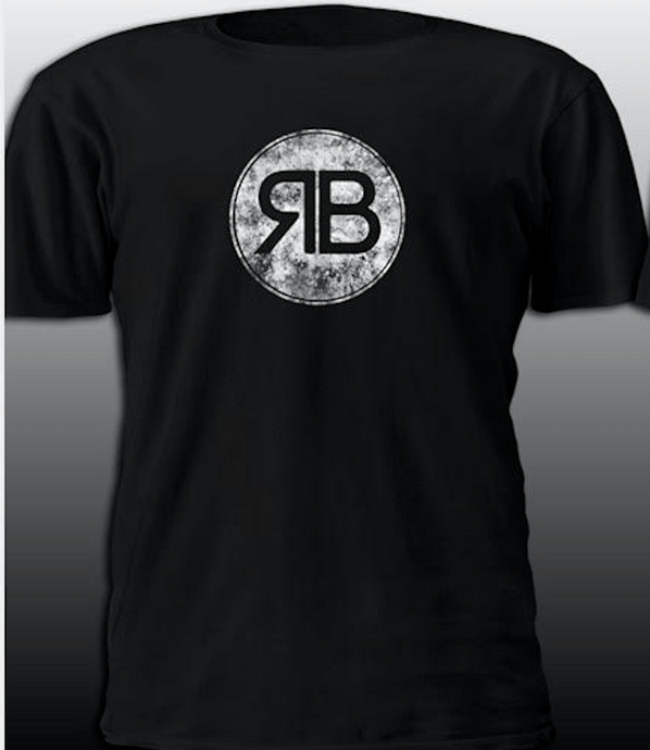 RB Distressed Black T-Shirt