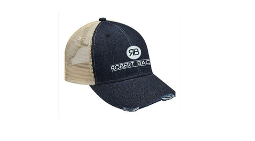 Robert Bacon Distressed Denim Hat