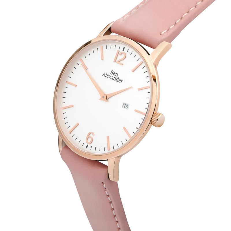 Baby Pink Leather Strap