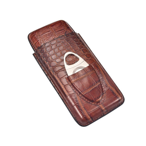 Leather Travel Cigar Case