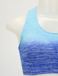 Blue Ombre Sports / Yoga Bra, Yoga Top - Meditation Essentials
