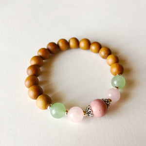 Heart Chakra ~ Sandalwood, Aventurine, Rose Quartz, Jewelry - Meditation Essentials