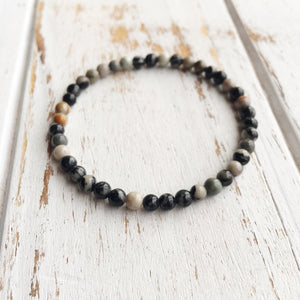 4mm Ocean Jasper Bracelet ~ Stone of Joy, Jewelry - Meditation Essentials