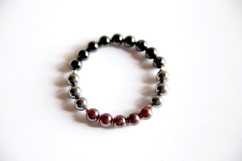 Root Chakra ~ Garnet, Hematite & Black Onyx, Jewelry - Meditation Essentials