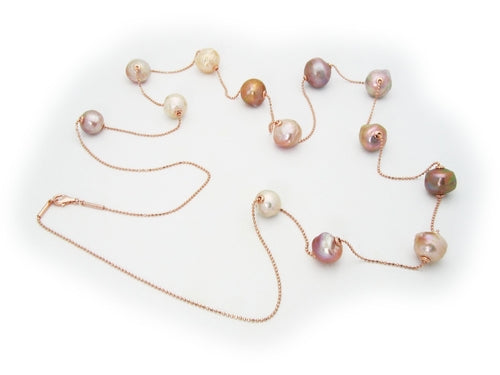 MultiColor Sliding Pearls Necklace, Jewelry - Meditation Essentials