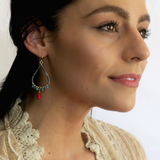 Audrey Earrings in Coral Sunset, Jewelry - Meditation Essentials