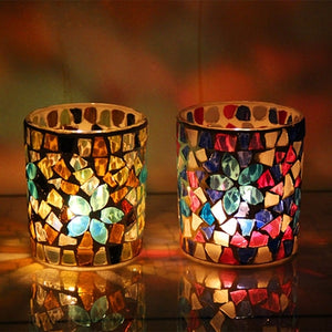 Handmade Votive Centrepiece Candle Holders, Candle - Meditation Essentials
