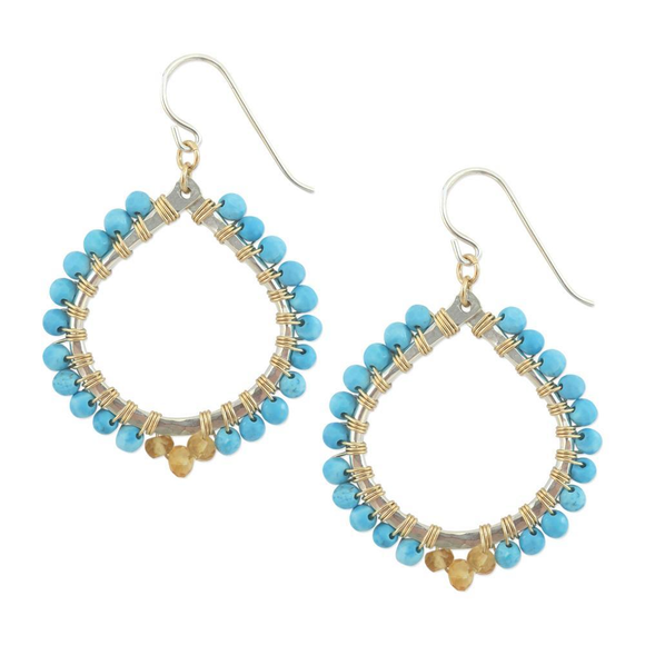 Madison Earrings in Turquoise, Jewelry - Meditation Essentials