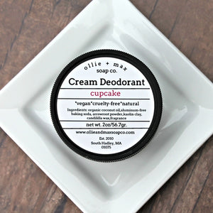 Buttercream Cupcake Vegan Cream Deodorant,, Deodorant - Meditation Essentials