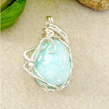 Blue Aragonite Necklace, Jewelry - Meditation Essentials