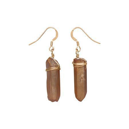 14/20 Gold Filled Earrings with Crystal Drops, Product - Meditation Essentials