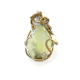 Prehnite Necklace with Pearl, Jewelry - Meditation Essentials