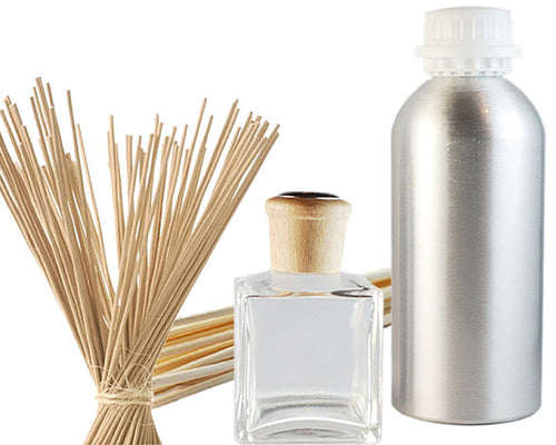 Reed Diffuser Starter Kit. Diffuser Glass Bottle, Diffusers - Meditation Essentials
