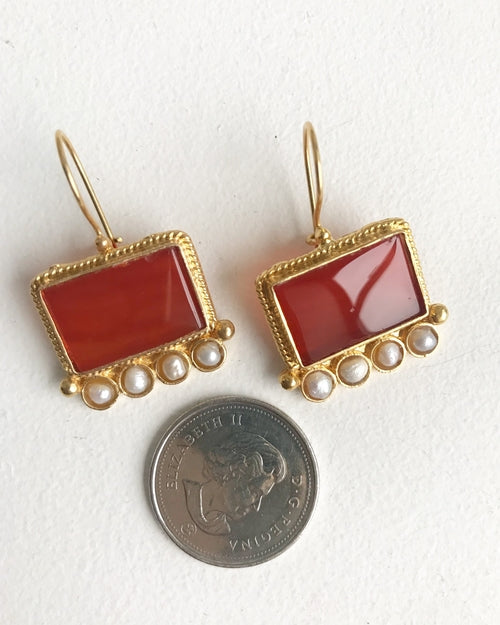 Handcrafted Earrings - Big Ruby, Jewelry - Meditation Essentials