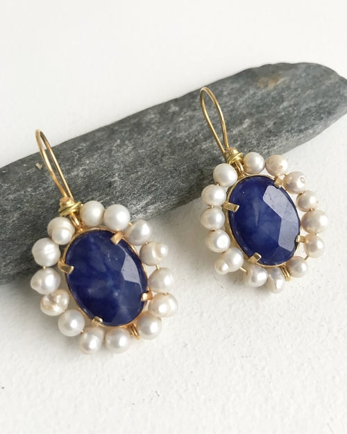 Handcrafted Earrings - The Azure,  - Meditation Essentials
