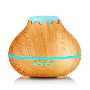 400ml Essential Oil Diffuser & Humidifier for Aromatherapy with Wood Grain, Diffusers - Meditation Essentials
