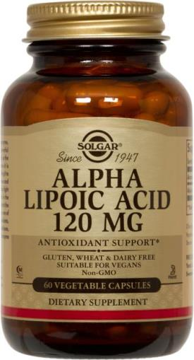 Alpha Lipoic Acid 120 mg Vegetable Capsules