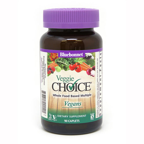 VEGGIE CHOICE® WHOLE FOOD-BASED MULTIPLE FOR VEGANS 90 CAPLETS
