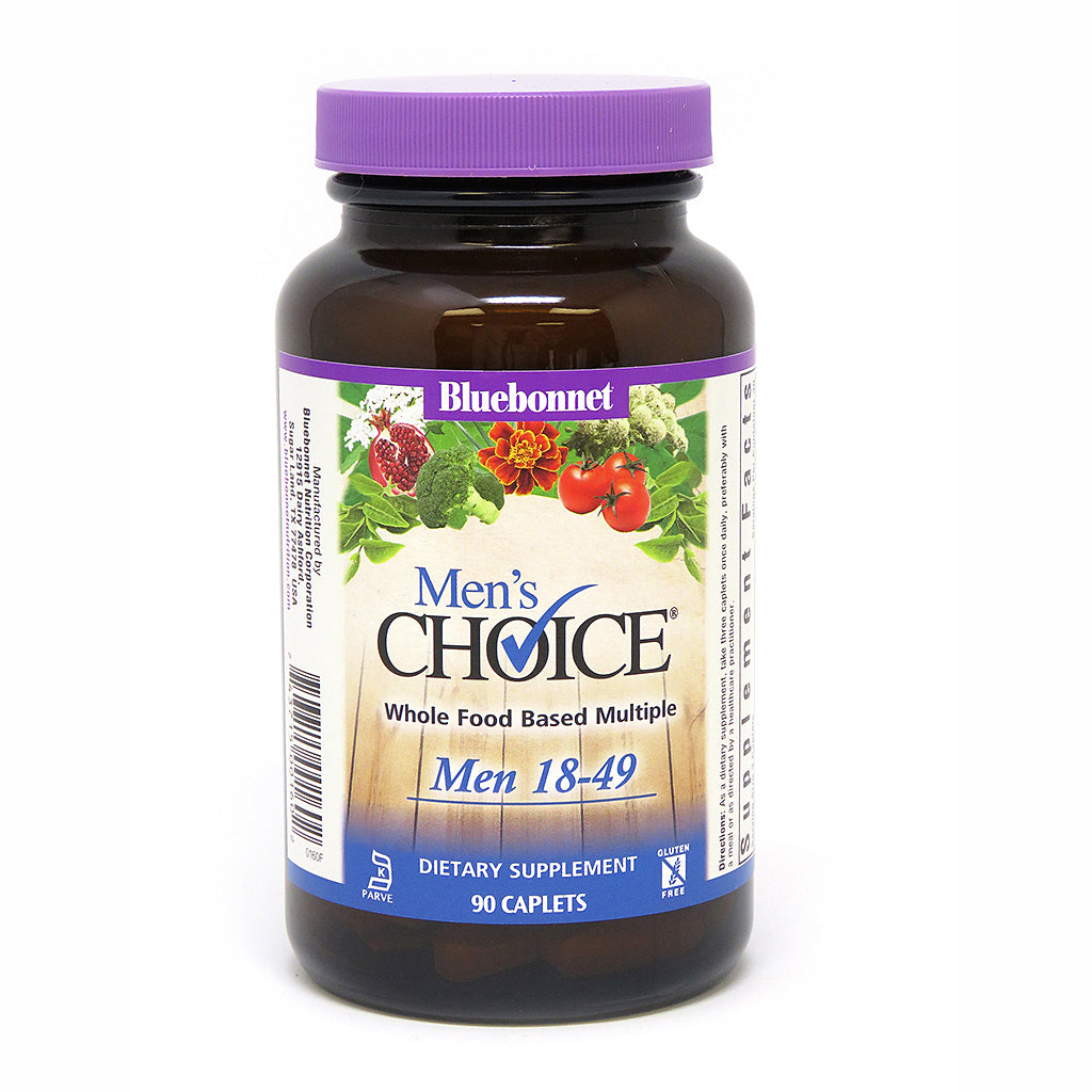 MEN'S CHOICE® WHOLE FOOD-BASED MULTIPLE FOR MEN 18-49 90 CAPLETS