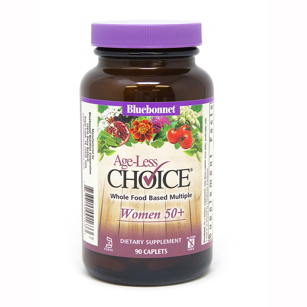 AGE-LESS CHOICE® WHOLE FOOD-BASED MULTIPLE FOR WOMEN 50+ 90 CAPLETS