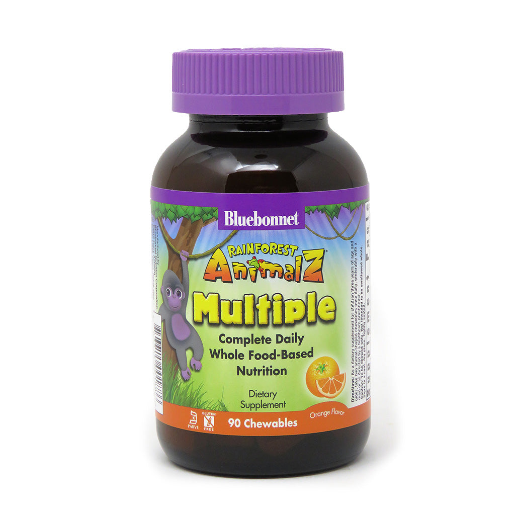 RAINFOREST ANIMALZ® WHOLE FOOD BASED MULTIPLE FOR CHILDREN ORANGE FLAVOR 90 CHEWABLES