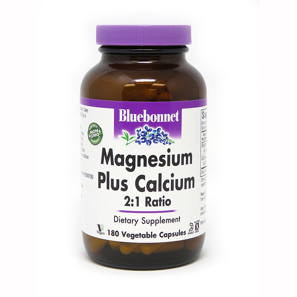 MAGNESIUM PLUS CALCIUM 2:1 RATIO 180 VEGETABLE CAPSULES