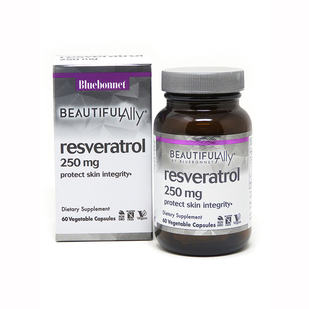 BEAUTIFUL ALLY® RESVERATROL 250 mg 60 VEGETABLE CAPSULES