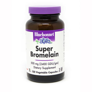 SUPER BROMELAIN 500 mg DIGESTIVE ENZYME 120 VEGETABLE CAPSULES