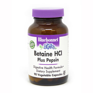 BETAINE HCL PLUS PEPSIN DIGESTIVE ENZYME 90 VEGETABLE CAPSULES