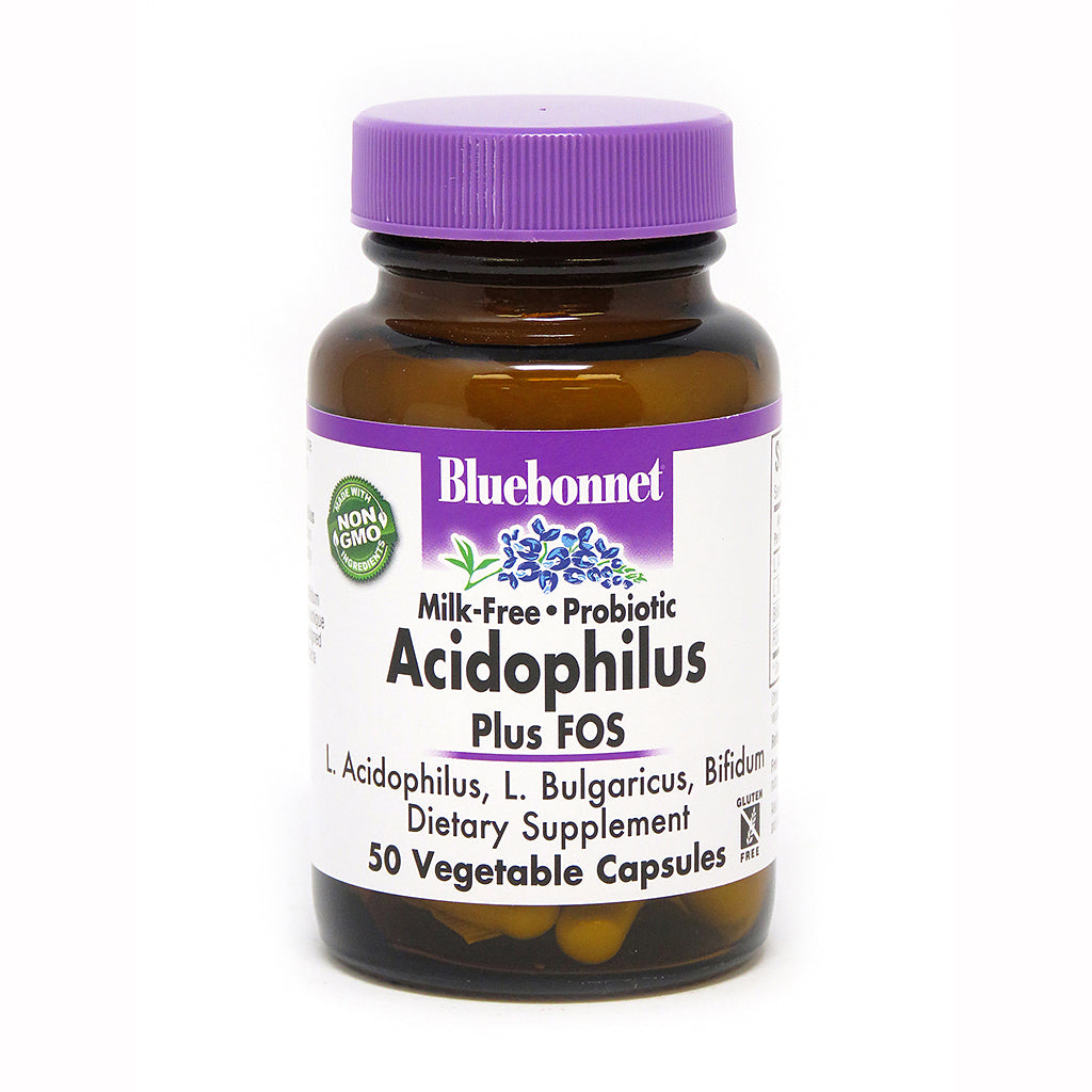 MILK-FREE PROBIOTIC ACIDOPHILUS PLUS FOS 50 VEGETABLE CAPSULES