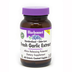 STANDARDIZED ODOR-LESS FRESH GARLIC EXTRACT 60 ENTERIC COATED CAPLETS