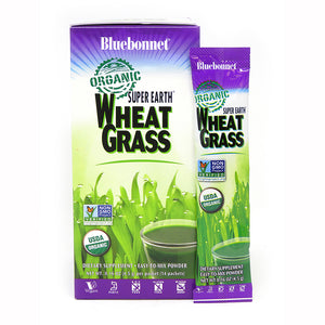 SUPER EARTH® ORGANIC WHEATGRASS POWDER 14 Pk