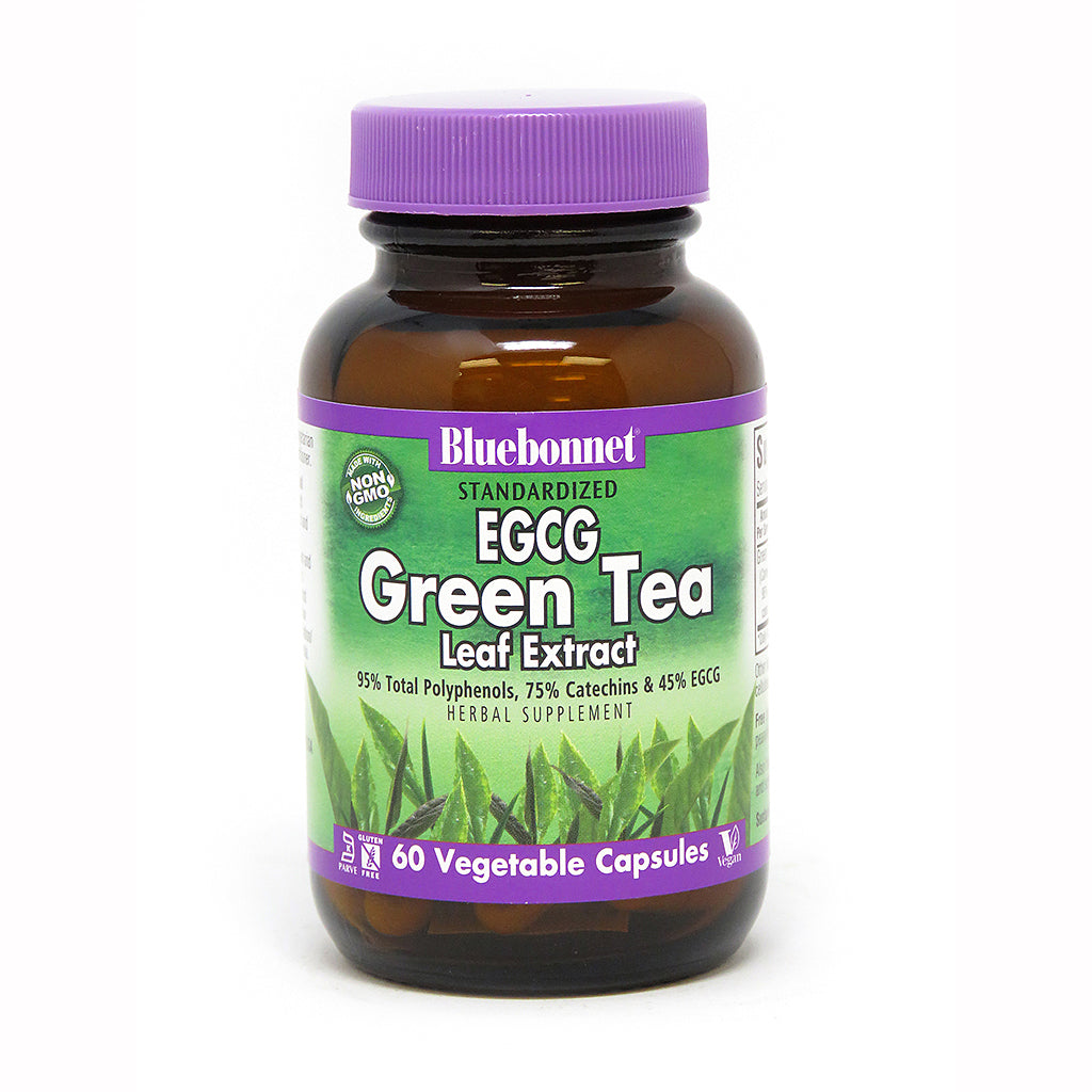 STANDARDIZED EGCG GREEN TEA LEAF EXTRACT 60 VEGETABLE CAPSULES