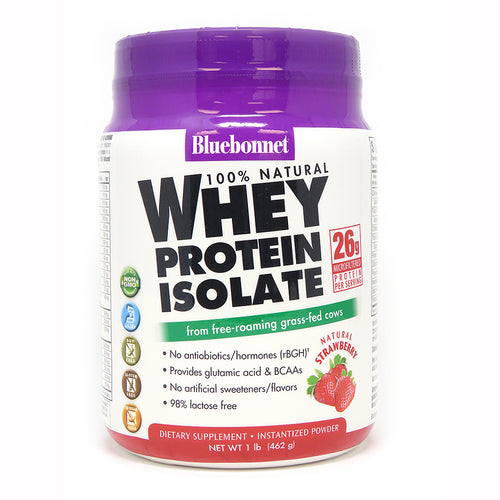 WHEY PROTEIN ISOLATE POWDER STRAWBERRY FLAVOR 1 lb