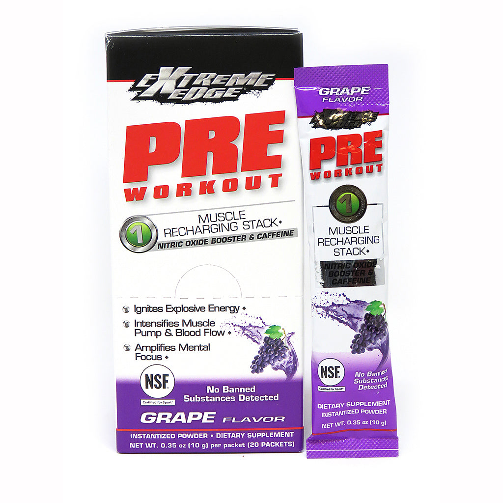 EXTREME EDGE® PRE WORKOUT POWDER GRAPE FLAVOR 20 Pk
