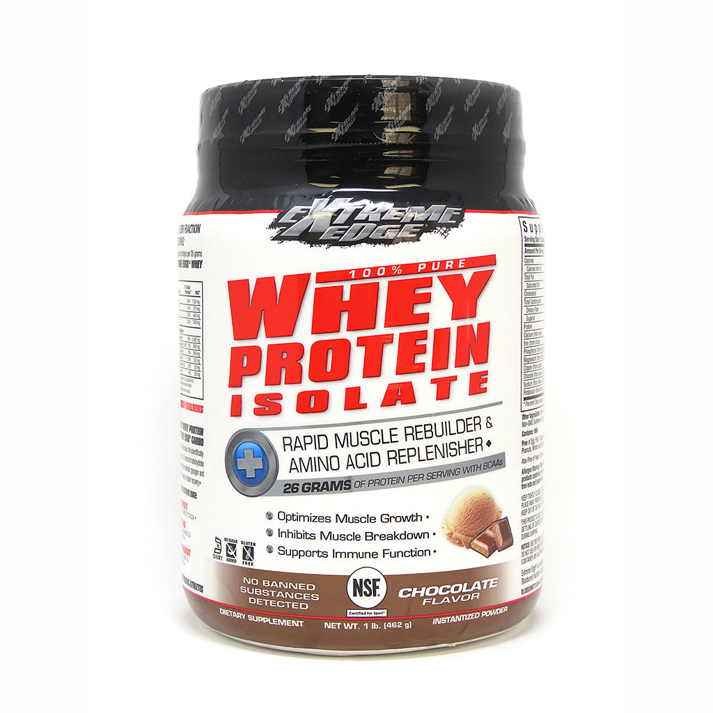 EXTREME EDGE® WHEY PROTEIN ISOLATE POWDER CHOCOLATE FLAVOR 1 lb