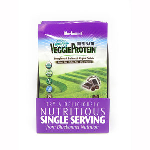 SUPER EARTH® ORGANIC VEGGIE PROTEIN™ POWDER CHOCOLATE MOCHA FLAVOR 8 Pk