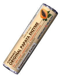 Original Papaya Enzyme Chewable Tablets Roll Pack/12 Tablets Per Roll^