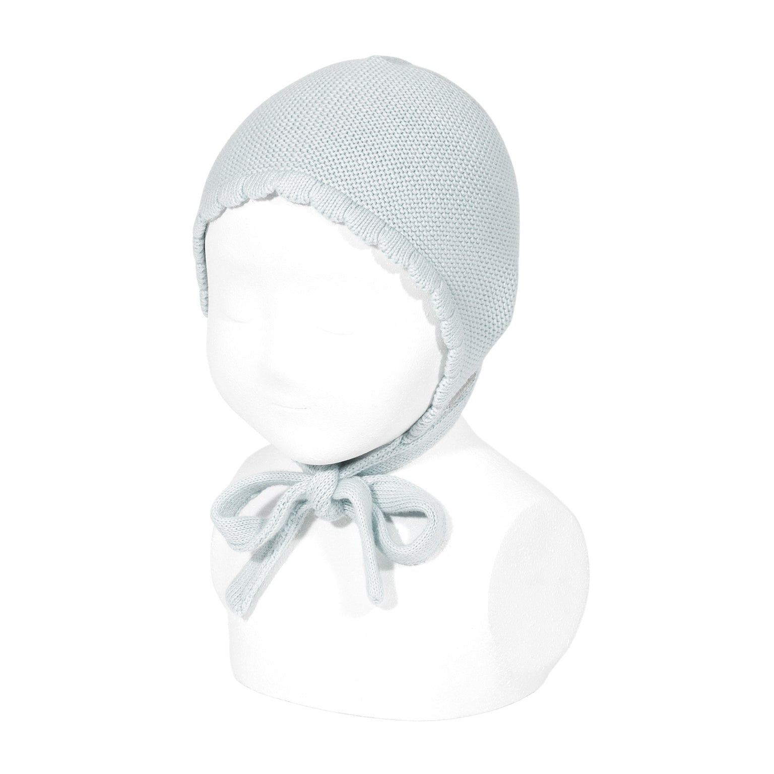 knitted bonnets <br> grey
