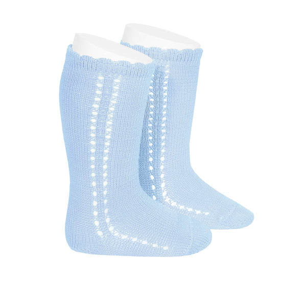 knee high socks <br> baby blue