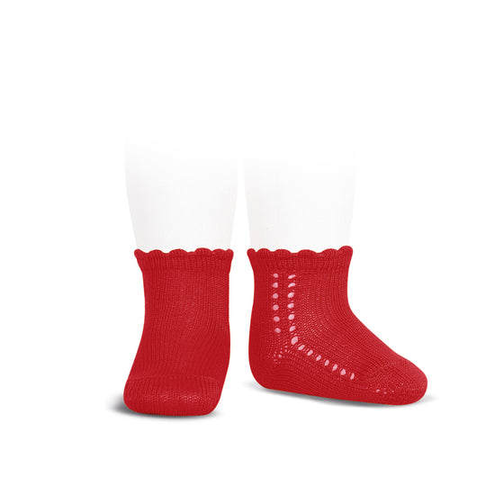 short socks <br> red