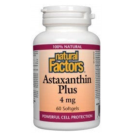 Natural Factors Astaxanthin Plus 4mg 60 Softgels