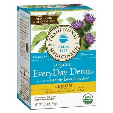Traditional Medicinal Organic Everyday Lemon Detox Tea 20 Bags