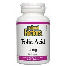 Natural Factors Folic Acid 1mg 90 Tablets